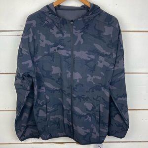 Zyia forest camo zipper hoodie jacket XL NWT